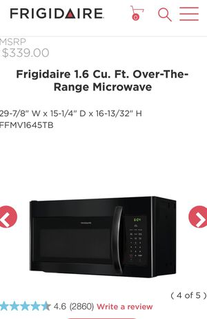 Frigidaire over the range microwave for Sale in Acworth, GA