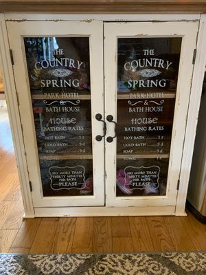 Cute shabby chic cupboard pantry for Sale in Applegate, OR