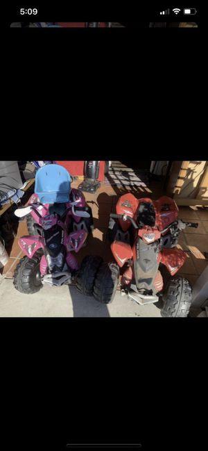 Kids plastic Polaris peg perego toy quads for Sale in Escondido, CA