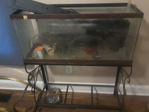 Large fish tank with stand and equipment for sale for Sale in Lynchburg, VA