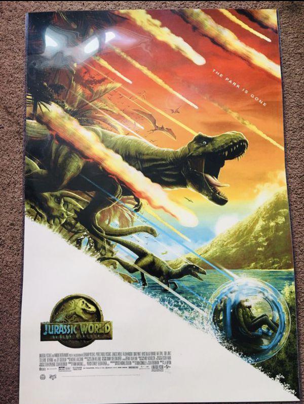 "MONDO Jurassic World 36x24"" Poster SDCC2018 Exclusive - 105/325"