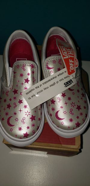 Star Glitter Classic Slip-on Van's size 10c kids for Sale in Renton, WA