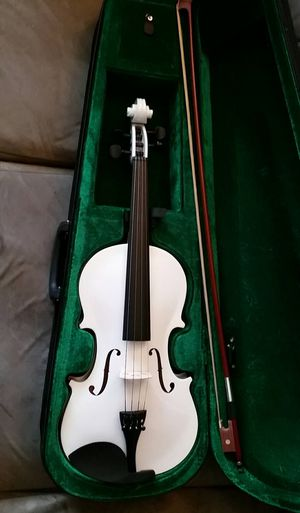 Brand New White Violin with Case,Bow and Rosin for Sale in Lebanon, TN