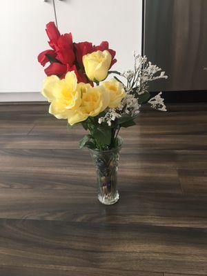 Flower vase and glass bowl for Sale in Herndon, VA
