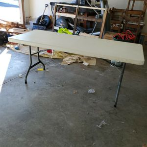 LIFETIME™️ FOLDING TABLE! Minor Dirty Marks, Ez Clean! for Sale in Sycamore, IL