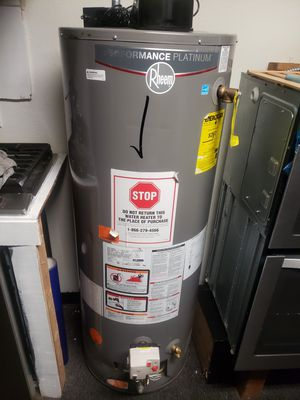 NEW WATER HEATERS🆕️ RHEEM 30/40 GAL AVAILABLE ‼️‼️ PROMO INCLUDES WATER LINE ➕GAS LINE We got you cover🛠🚚✒🗒 for Sale in Orange, CA