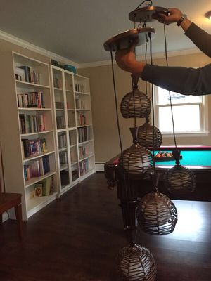 Pair of Matching Ceiling Lamps for Sale in Washington, DC