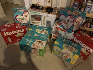 Diapers and wipes by the box! for Sale in Lehigh Acres, FL