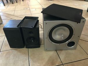 Bass: Polk Audio 100w, Speakers: Infinity 100w, for Sale in Phoenix, AZ