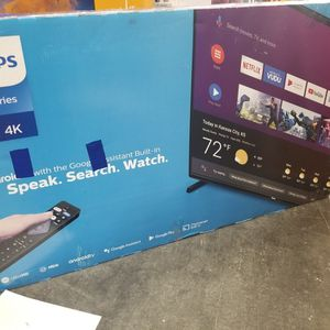 """55"""" LED SMART 4K ULTRA HDTV BY PHILLIPS WITH HDR. BRAND NEW SEALED BOX for Sale in Los Angeles, CA"""