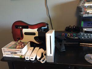 Nintendo Wii System Bundle! + 5 Games! 2 Controllers, Joystick & Guitar 🎸 Ultimate Family Fun! Guitar Hero! for Sale in Clackamas, OR