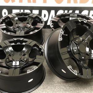 Four (4) 20x9 Off-road ET 0 Black Milled 8x165.1 8X6.5 Wheels Rims for Sale in Fraser, MI