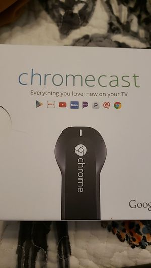 Brand New Chrome Cast - connect your phone to your tv! for Sale in Richardson, TX