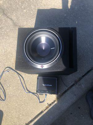 "Rockford Fosgate 10"" subwoofer/Amp for Sale in Fayetteville, NC"