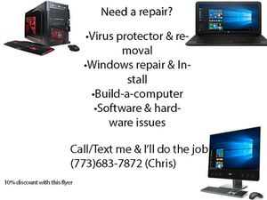 Computer repair service for Sale in Chicago, IL