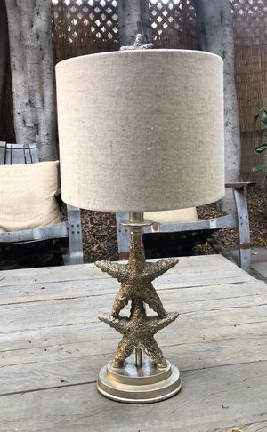 Pair of starfish shabby chic lamps for Sale in Playa del Rey, CA
