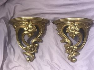 Syroco # 3507 gold wall sconce shelves for Sale in Fresno, CA
