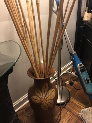 Vase with bamboo for Sale in Memphis, TN