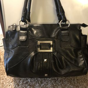 Badass B handbag Black Leather look with silver studs for Sale in Houston, TX