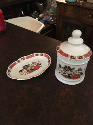 Antique Vintage Jar and Dish for Sale in Las Vegas, NV
