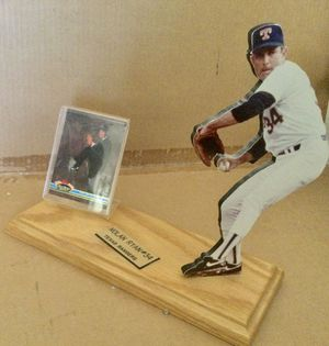 Nolan-Ryan- Stand - Up - Display with 1990 Top's Stadium Club Baseball Card for Sale in Scottsdale, AZ