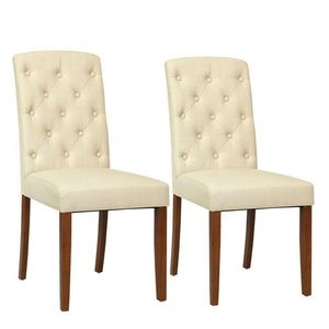 Modern Design Home Kitchen Linen Dining Chairs Wooden Chair Dining Room 2-set for Sale in El Monte, CA