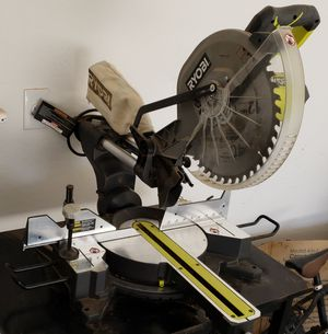 RYOBI 15 Amp Corded 12 in. Sliding Miter Saw with Laser for Sale in Maricopa, AZ