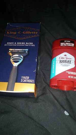 King c gillette razor and old spice deodorant for Sale in Phoenix, AZ