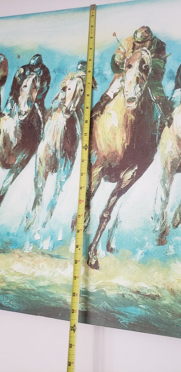 """HORSE TRACK CANVAS 24"""" × 36"""""""