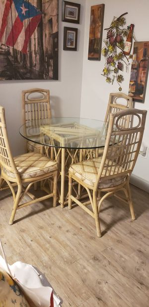 Rattan dinning set for Sale in Winter Haven, FL