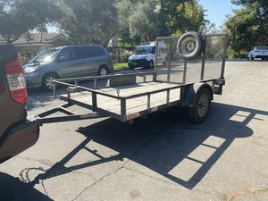 2015 carson trailer pinkslip in hand 1600 firm 7x10 fits rzr quads for Sale in Riverside, CA