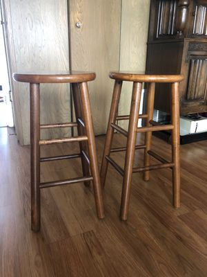 Wood bar stools (set of 2) for Sale in San Francisco, CA