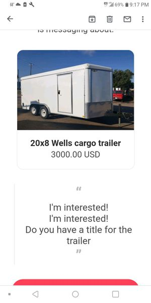 Cargo trailer clean title in hand one owner road ready for Sale in Chelsea, MA