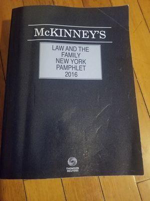 McKinney's Law and the Family New York Pamphlet 2016 for Sale in Queens, NY
