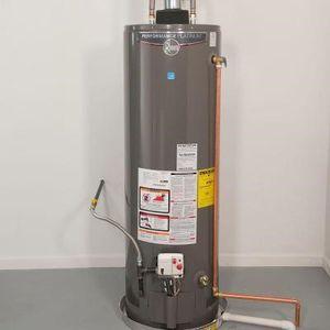 New rheem water heater 50 gallon gas promo price includes installation for Sale in Artesia, CA