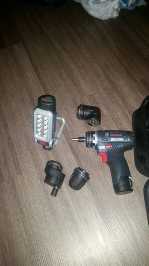 BOSCH 12V FLEXICLICK DRILL DRIVER AND LIGHT for Sale in Round Rock, TX