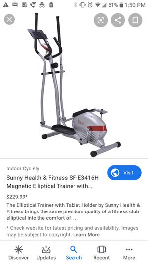 Magnetic elliptical trainer workout machine for Sale in Spring, TX
