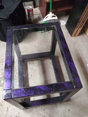 2 glass end tables for Sale in Sandy, UT