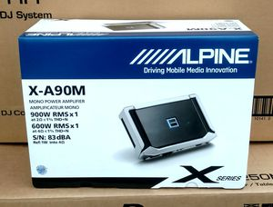 Bass Amplifier Car Audio Alpine X Series Class D Monoblock 2-Ohm Stable 900watts 🚨 90 Day Payment Option Available for Sale in Santa Monica, CA