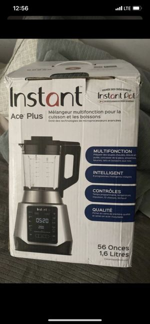 Beverage Blender Instant Ace Plus & Pot Cooking , 10 Speeds - 1,6L - Sliver for Sale in Los Angeles, CA