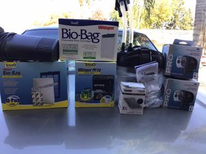 Aquarium filters & automatic feeders ~ Price is FIRM for Sale in Fresno, CA