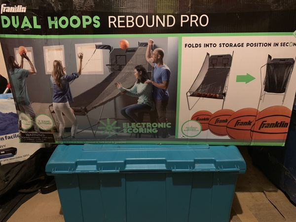 Dual Hoops rebound pro electronica score board basketball Game