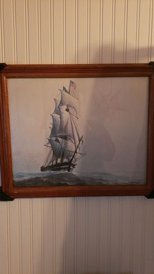 Framed Ship Oil Painting for Sale in Seattle, WA