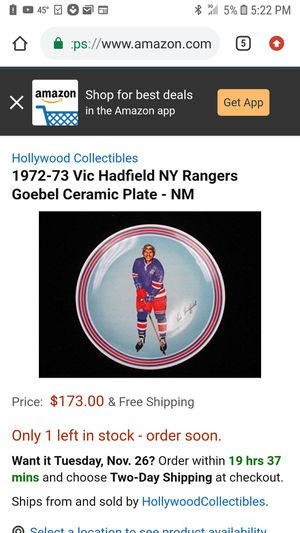 Vic Hadfield NY RANGERS for Sale in Romulus, MI