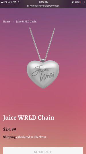 Juice WRLD Heart Chain for Sale in Las Vegas, NV