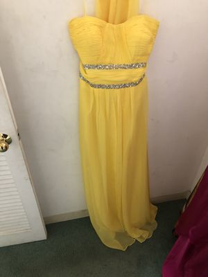 Yellow long dress on sale for Sale in Stockton, CA