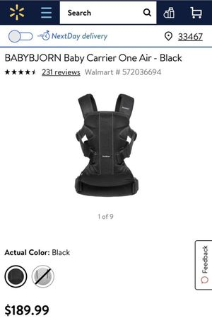 BabyBjorn Baby Carrier One Carrier & Bib Bundle - Black for Sale in Lake Worth, FL
