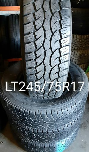 DURHAM LT245/75R17 SET 80%100 for Sale in Salt Lake City, UT