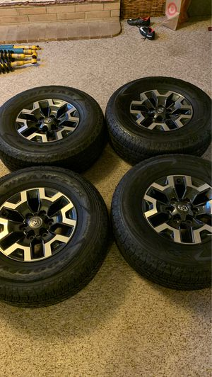 2017 Toyota Tacoma TRD off-road Stock wheels and tires for Sale in Seattle, WA