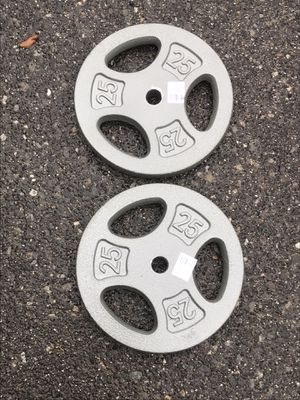 """New Pair of 25lb 1"""" Standard Weights for Sale in Des Moines, WA"""